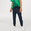 Next Fleece Jogger Trouser For Kids-Navy Melange-BE9726