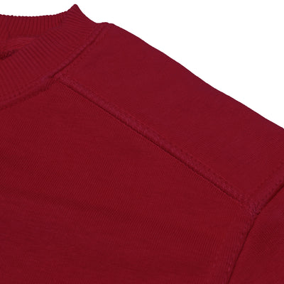Next Fleece Patch Style Sweatshirt For Men-Red-BE6242