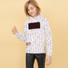 Next Fleece Pullover Hoodie For Girls-With with Allover Stars Print-BE10715