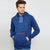 Next Fleece Pullover Hoodie For Men-Blue Melange-BE6273