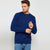 Next Fleece Raglan Sleeve Sweatshirt For Men-Dark Blue-BE6258
