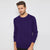 Next Fleece Raglan Sleeve Sweatshirt For Men-Dark Purple-BE6259