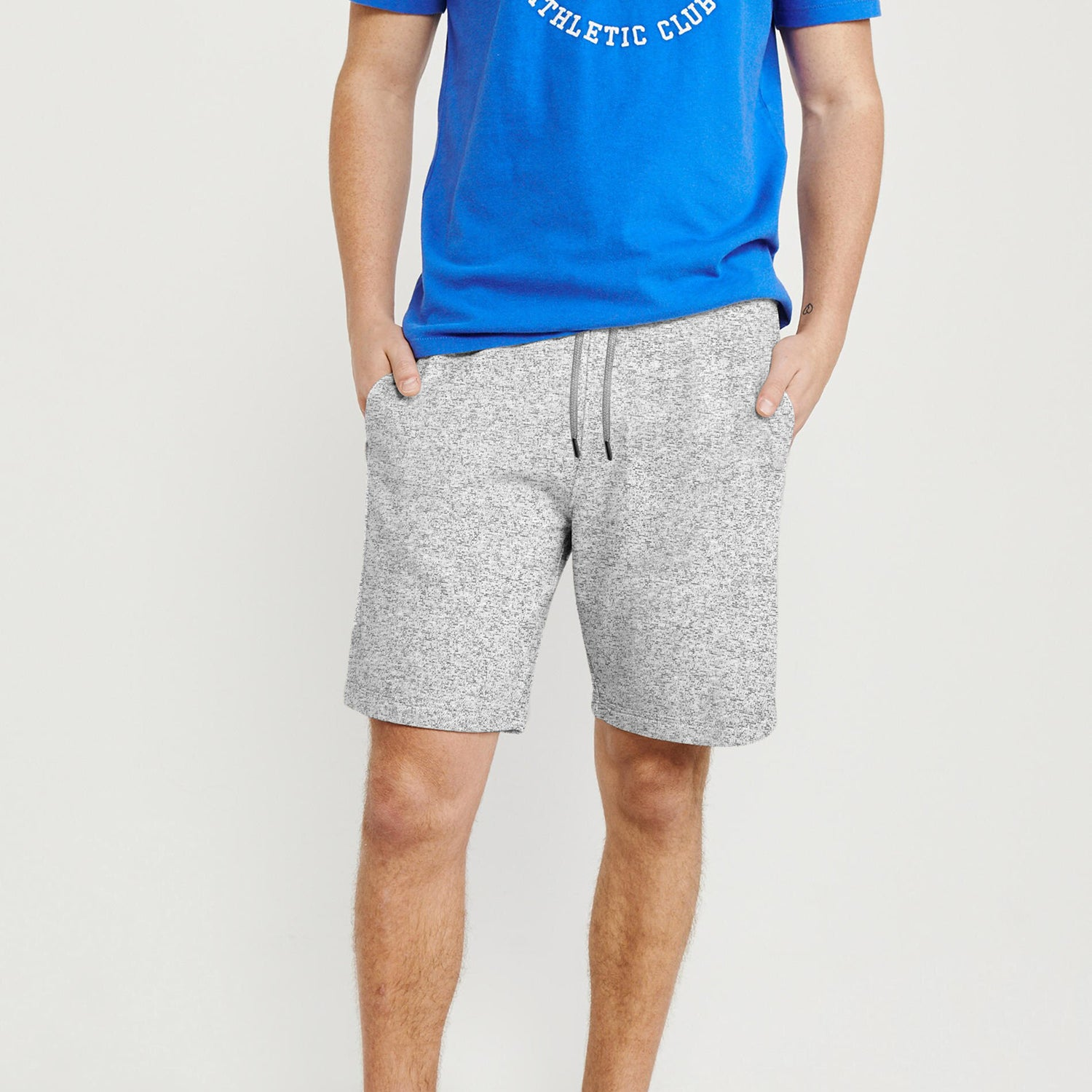 Next Fleece Short For Men-Grey Melange-BE9128