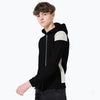 Next Fleece Zipper Hoodie For Kids-Black & White-SP858