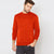Next Fleece Sweatshirt For Men-Blaze Orange-BE6254