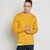 Next Fleece Sweatshirt For Men-Blaze Yellow-BE6225