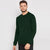Next Fleece Sweatshirt For Men-Dark Green-BE6249