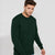 Next Fleece Sweatshirt For Men-Dark Green-BE6250