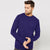 Next Fleece Sweatshirt For Men-Dark Purple-BE6255