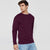 Next Fleece Sweatshirt For Men-Maroon-BE6252