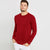 Next Fleece Sweatshirt For Men-Red-BE6227