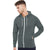 Next Fleece Zipper Hoodie For Men-Dark Slate Grey Melange-BE12888