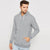 Next Full Zipper Hoodie For Men-Grey Melange-BE6196