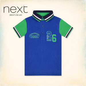NEXT Half Sleeve P.Q Polo Shirt For Kids-Royal Blue-NA1276