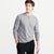 NYC Henley Long Sleeve Shirt For Men-Grey Melange-BE6108