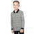 Next Long Sleeve Single Jersey Polo Shirt For Kids-Off White & Black Stripe-BE5684