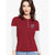 NEXT Long Sleeve Single Jersey Polo Shirt For Ladies-Red Stripe & White-BE4981