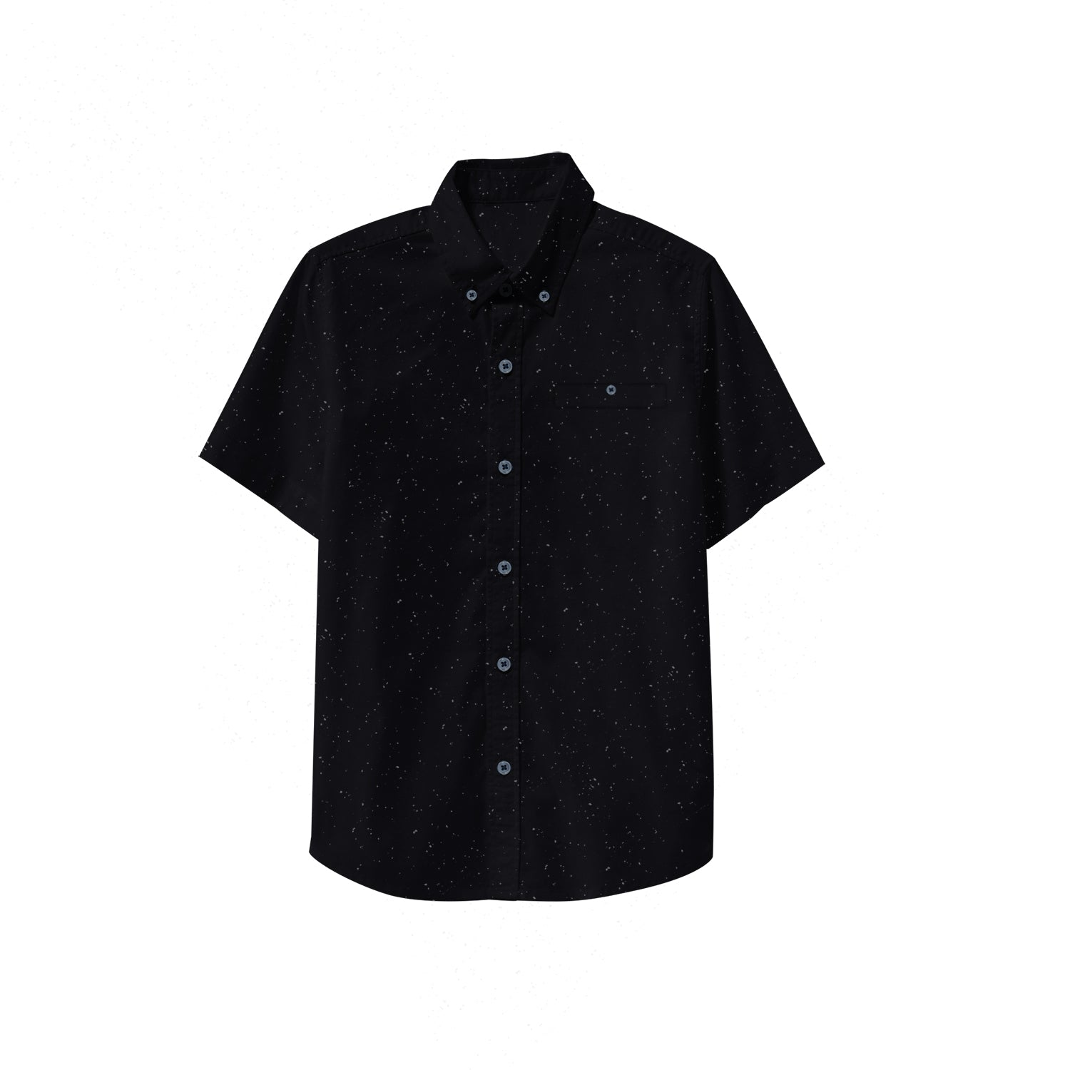 NEXT P.Q Button Down Shirt For Kids-Black with Dotted-BE9381