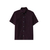 NEXT P.Q Button Down Shirt For Kids-Dark Maroon-BE9384
