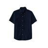 NEXT P.Q Button Down Shirt For Kids-Dark Navy with Lining-BE9380