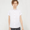 Next P.Q Button Down Shirt For Kids-White-BE5192
