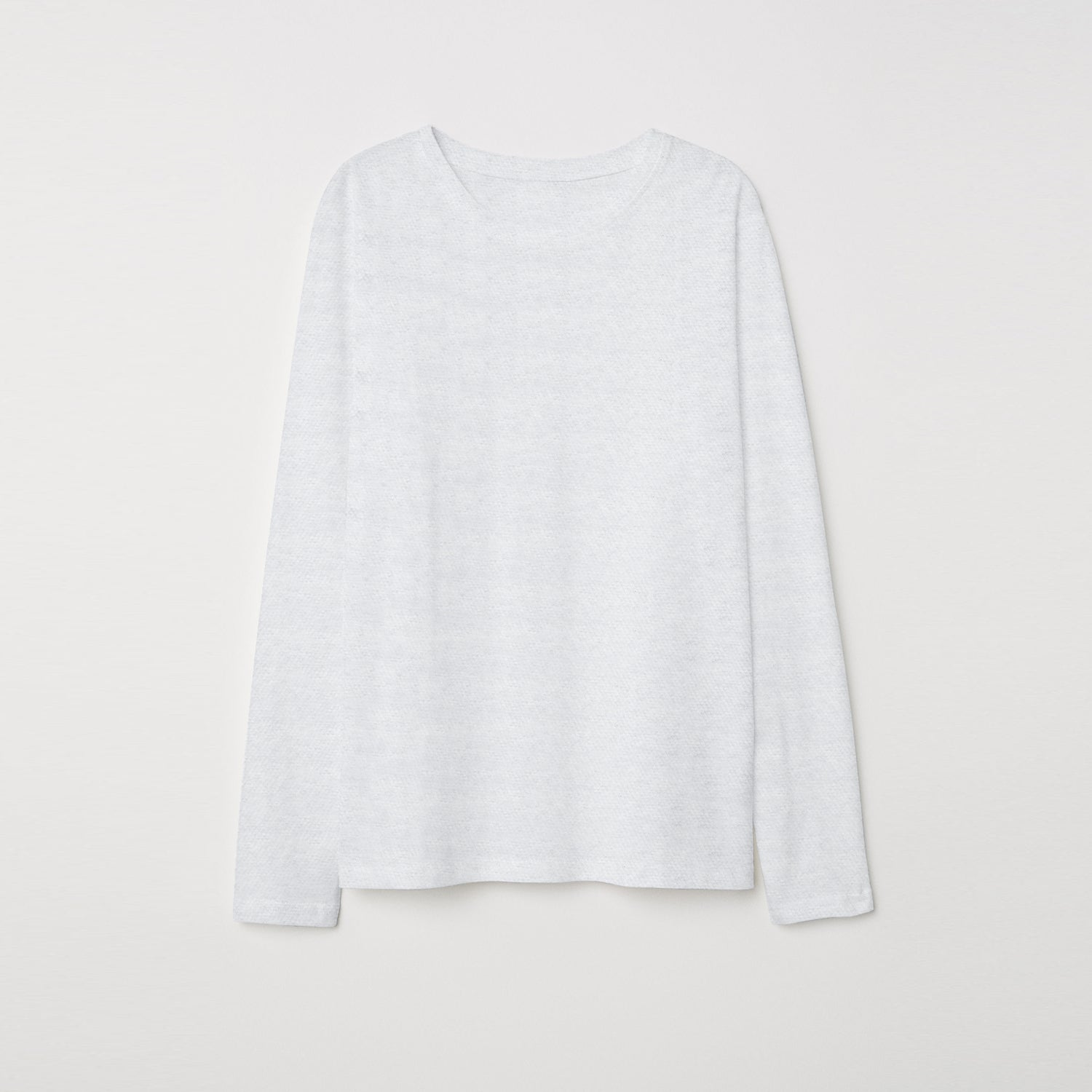 NEXT P.Q Long Sleeve Tee Shirt For Kids-White Melange Quilted-BE9406