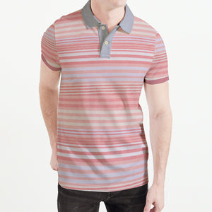 NEXT P.Q Polo Shirt For Men-Multi Stripe-BE5037