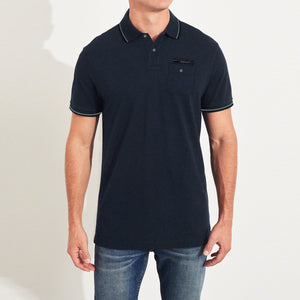 NEXT P.Q Polo Shirt For Men-Navy Melange-BE5485