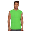 Polyester Reverse able Sleeveless Sport Shirt For Men-Parrot & Yellow-BE6535