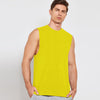 Polyester Sleeveless Sport Shirt For Men-Yellow-BE6537
