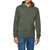 Next Pullover Fleece Hoodie For Men-Olive Green-AN1341