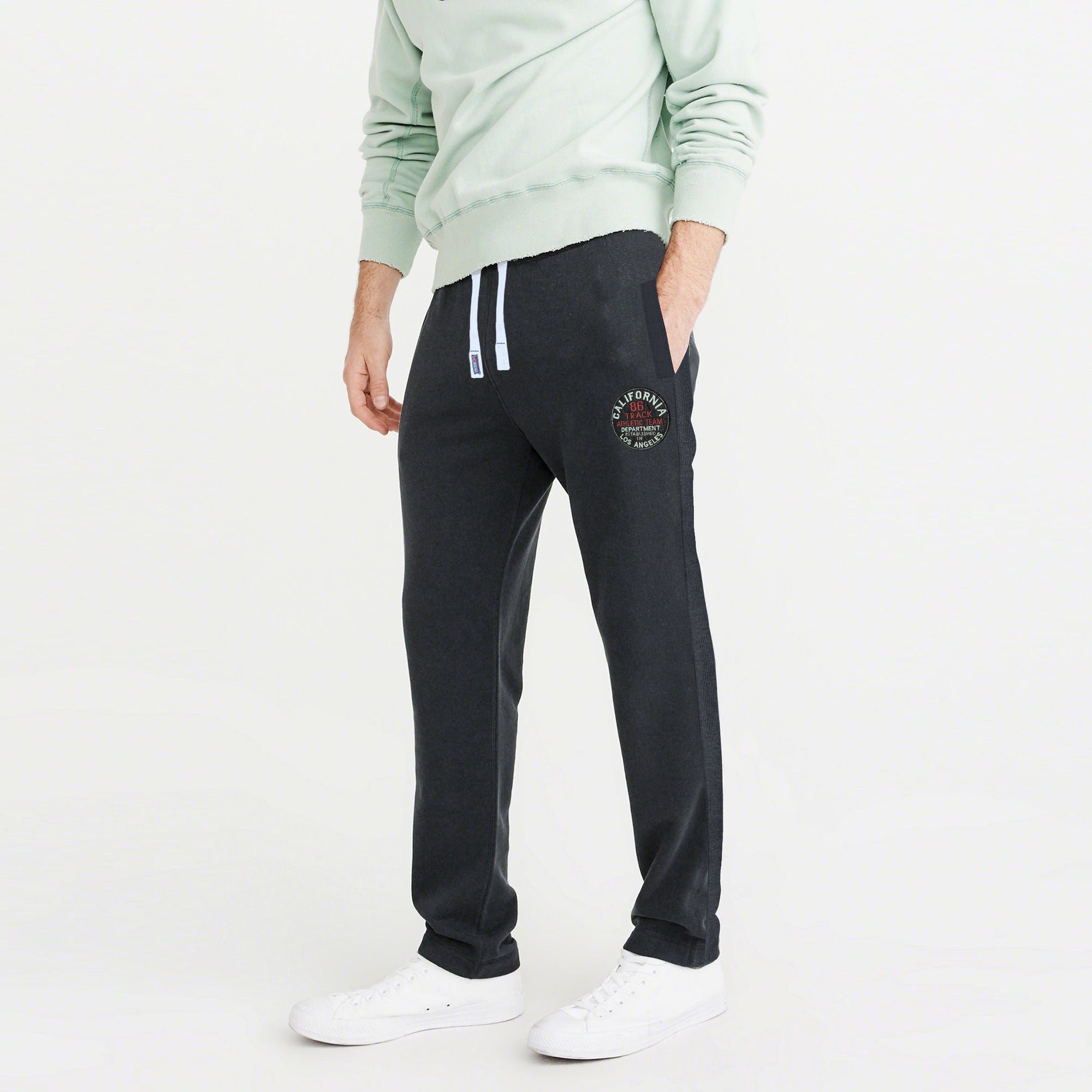 Next Regular Fit Fleece Jogger Trouser For Men-Charcoal Melange-BE7475