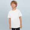brandsego - Next Single Jersey Crew Neck Tee Shirt For Kids-White-BE9071