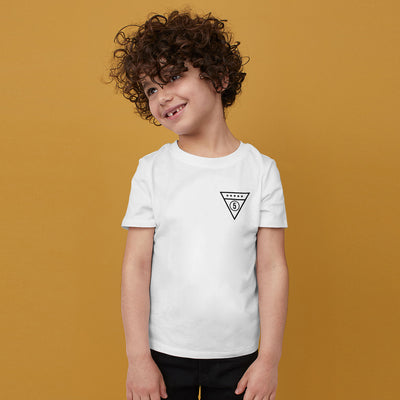 brandsego - Next Single Jersey Crew Neck Tee Shirt For Kids-White with Print-BE9070