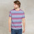 Next Single Jersey Crew Neck Tee Shirt For Men-Pink Stripe-BE5672