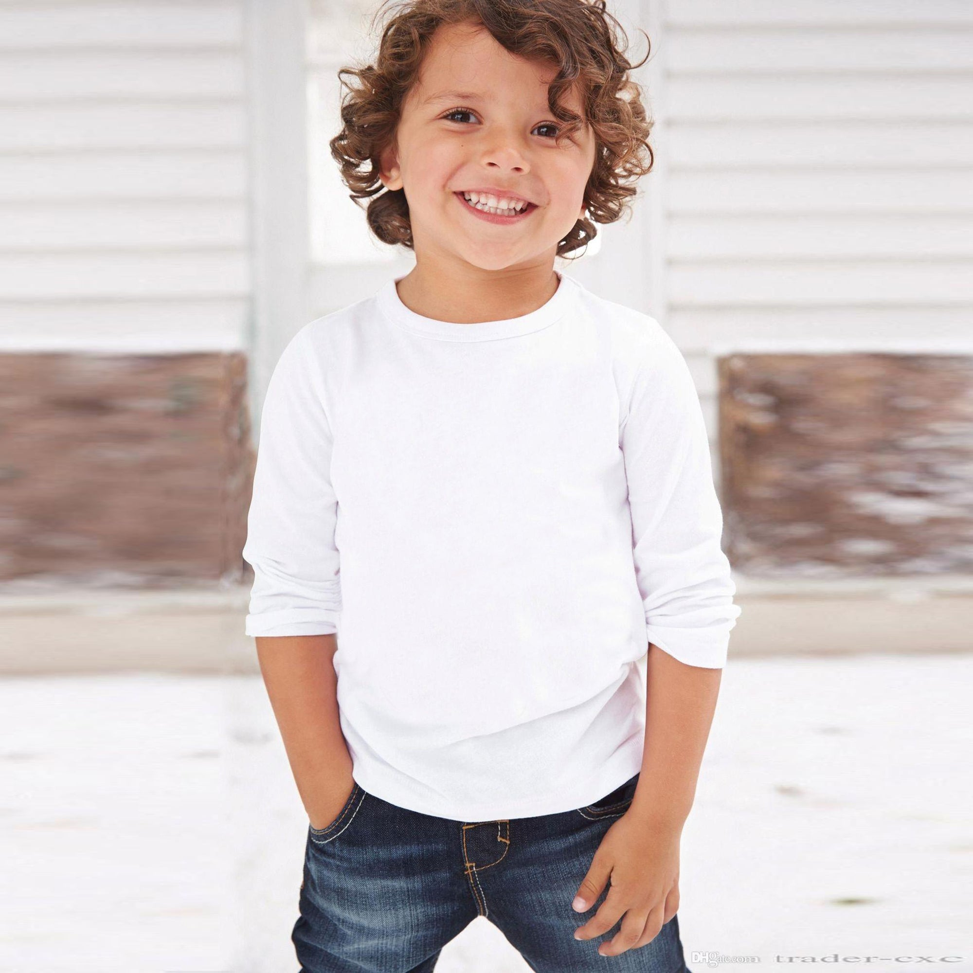 brandsego - Next Single Jersey Full Sleeve Tee Shirt for Kids White-BE5823