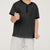 Next Single Jersey Henley Tee Shirt For Boy-Black with Allover Print-BE5259