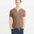 Next Single Jersey Henley Tee Shirt For Men-Camel-BE5656