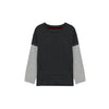 NEXT Single Jersey Long Sleeve Tee Shirt For Kids-Charcoal & Grey Melange-BE9342