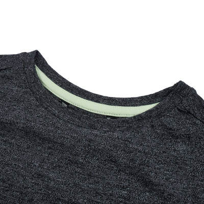 brandsego - NEXT Single Jersey Long Sleeve Tee Shirt For Kids-Charcoal Melange-BE9336