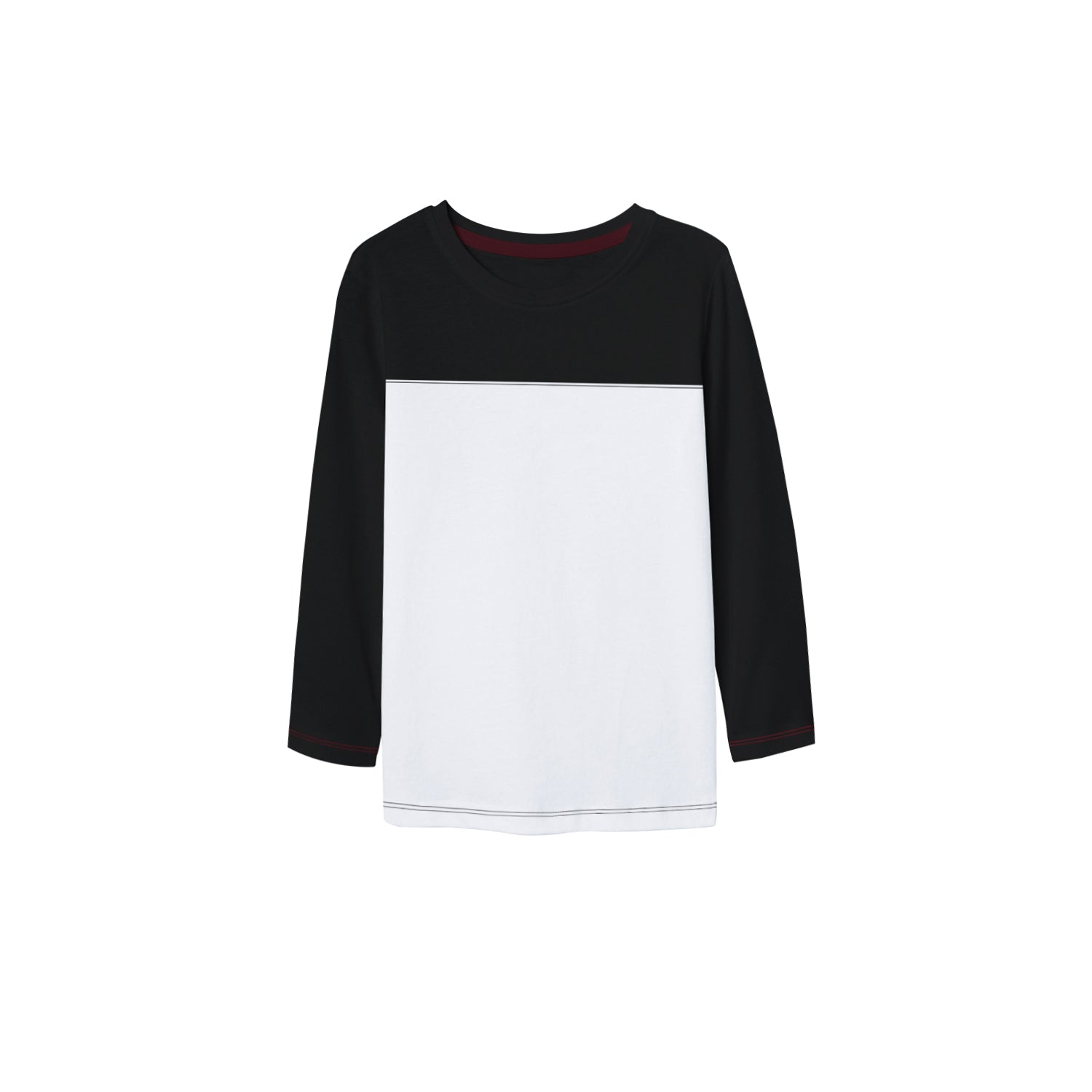 brandsego - NEXT Single Jersey Long Sleeve Tee Shirt For Kids-White & Black-BE9325