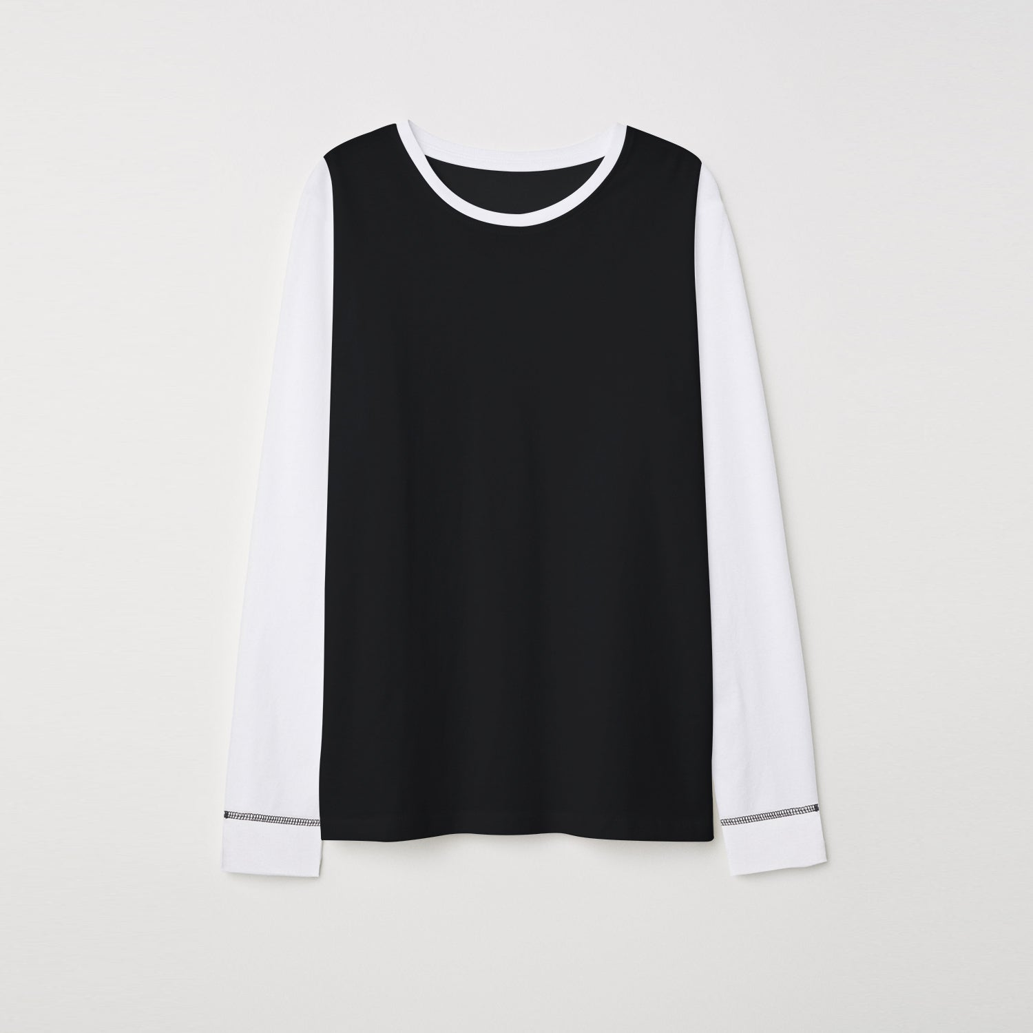 brandsego - NEXT Single Jersey Long Sleeve Tee Shirt For Kids-White & Black-BE9343