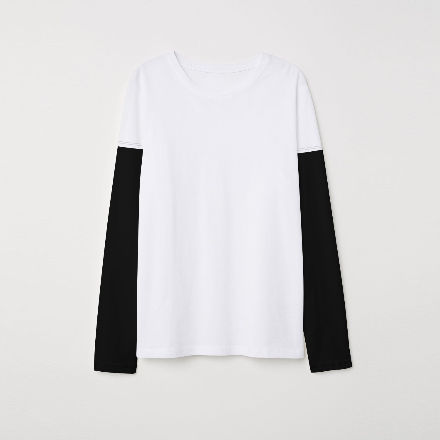 brandsego - NEXT Single Jersey Long Sleeve Tee Shirt For Kids-White & Black-BE9391