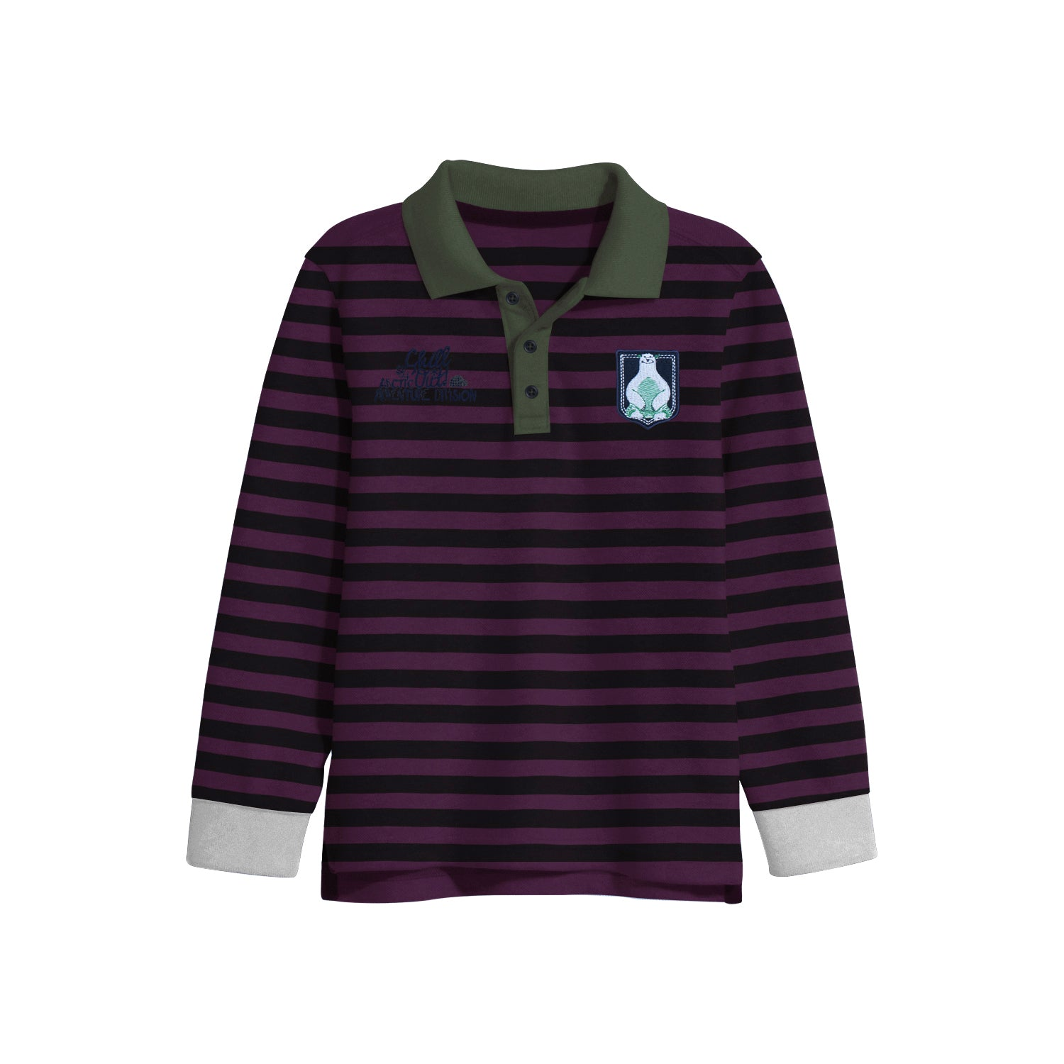 NEXT Single Jersey Polo Shirt For Kids-Dark Maroon with Stripe-BE9349