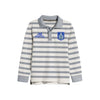 NEXT Single Jersey Polo Shirt For Kids-Off White & Grey Stripe-BE9347