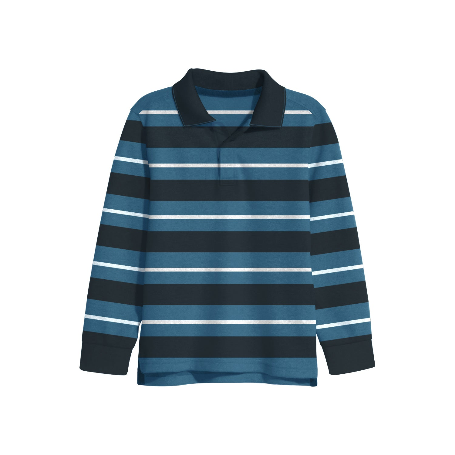 NEXT Single Jersey Polo Shirt For Kids-Striped-BE9346