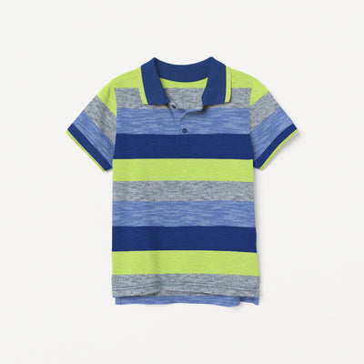 brandsego - NEXT Single Jersey Polo Shirt For Kids-Striped-BE9408