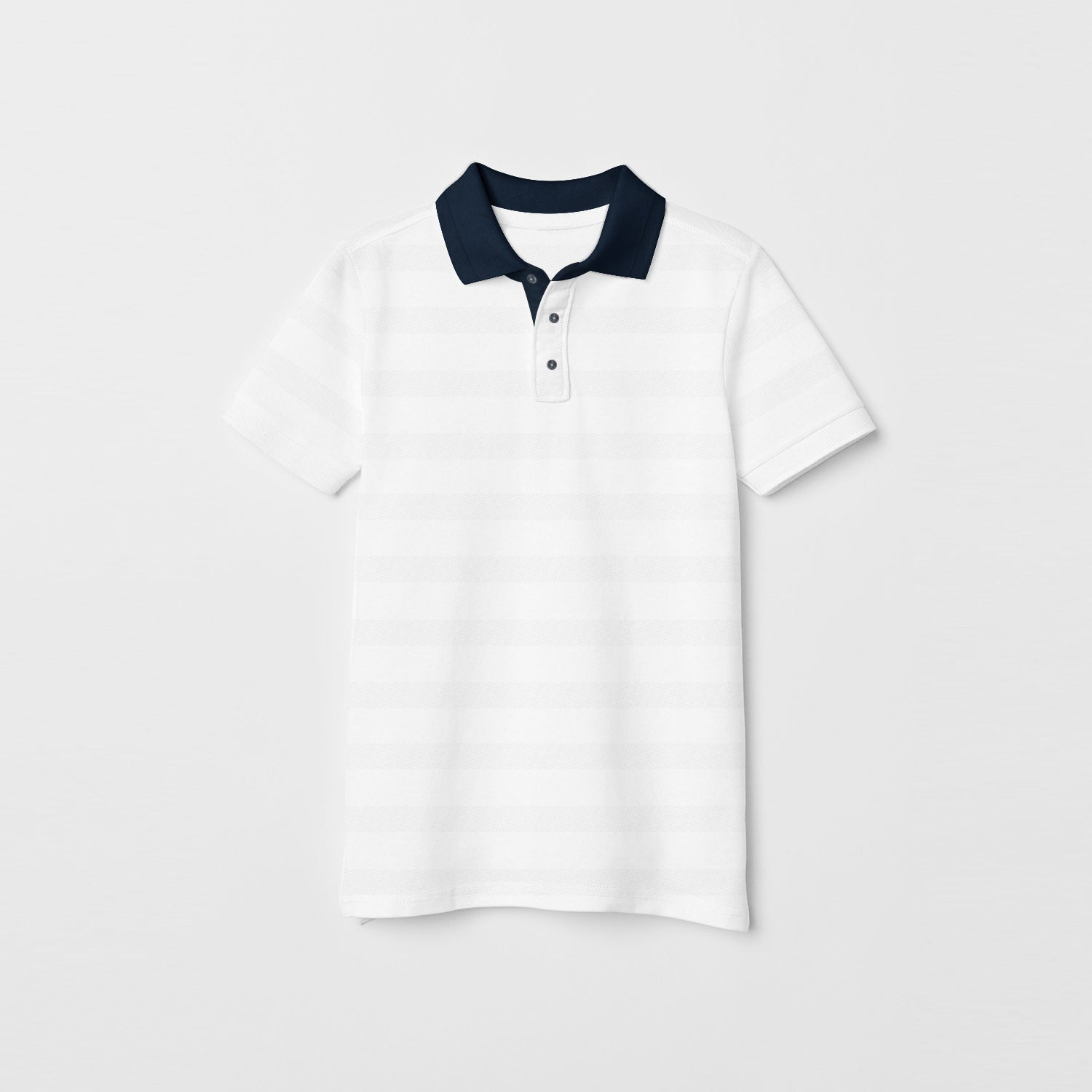 NEXT Single Jersey Polo Shirt For Kids-White-BE9410