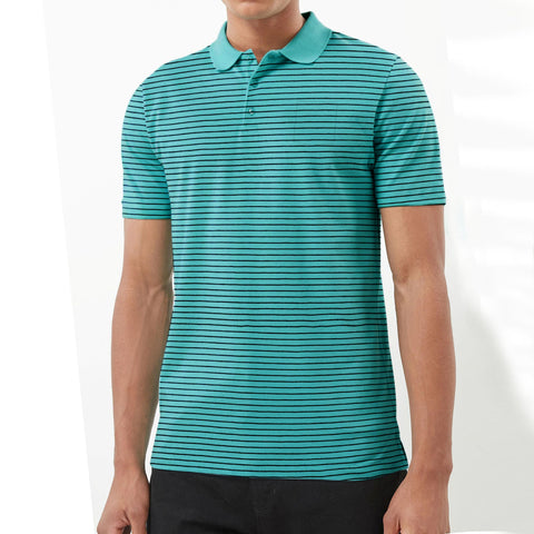 NEXT Single Jersey Polo Shirt For Men-Ferrozi with Black Stripe-BE5066