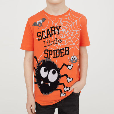 Next Single Jersey  Half Sleeve T Shirt For Boys-Orange-BE5244